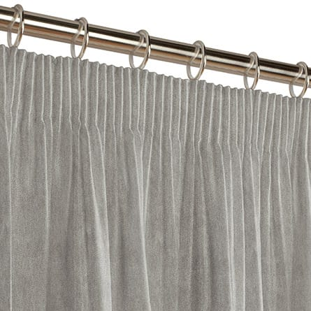 Pencil heading curtain